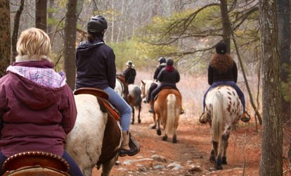 image for One or Two-Hour Trail Ride for One or Two People at Cornerstone Ranch (Up to 51% Off)
