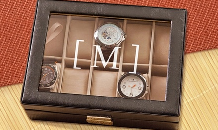 $34.99 for a Personalized Men's Watch Case from Monogram Online ($89.99 Value)