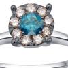 1/2 CTTW Diamond Flower Cluster Ring in 14K White Gold