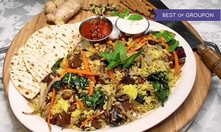 Vegetarian Cuisine and Drinks at Dharma's Restaurant (40% Off)