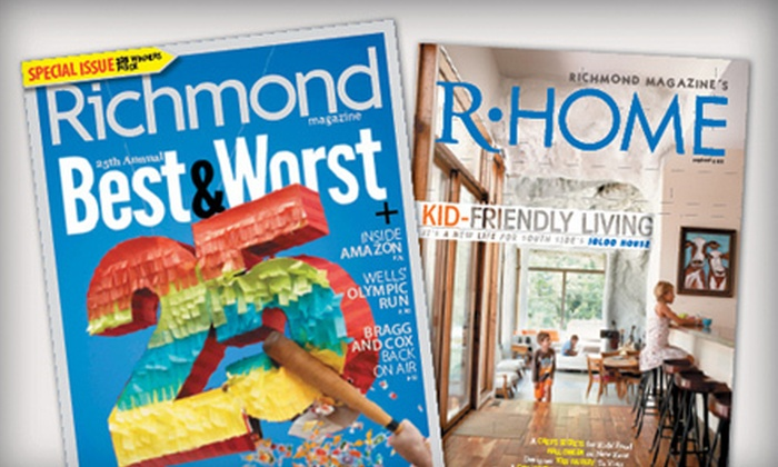 "Richmond Magazine: $14 for a Two-Year Subscription to ""Richmond"" Magazine ($26 Value)"