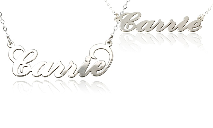 AJ's Collection: $24.99 for One Personalized Nameplate Necklace from AJ's Collection ($56 Value)