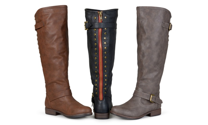 672bc2867b14 Journee Collection Women s Extra Wide-Calf Knee-High Riding Boots ...