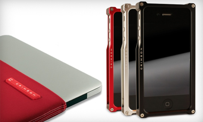 Crimson: Cases, Screen Protectors, and Sleeves for iPhone, iPods, iPad, and MacBook Air from Crimson (Half Off)