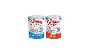 Guigoz: Coupon de 2 € sur une boîte au choix dans la gamme Guigoz Croissance® poudres à imprimer, valables en supermarché