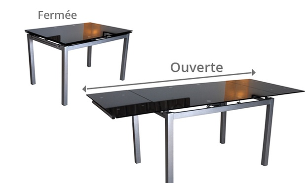 Table extensible et chaises groupon shopping for Table extensible 3m groupon