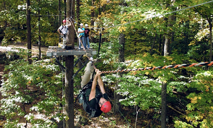 Spring Mountain Adventures - Spring Mount: Zipline Canopy Tour for One or Two at Spring Mountain Adventures (Up to 53% Off)
