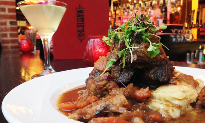 Mattie's on Main - Nicollet Island: Dinner for Two at Mattie's on Main (Up to 38% Off). Two Options Available.