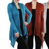 Long Knit Asymmetrical Hem Women's Cardigan
