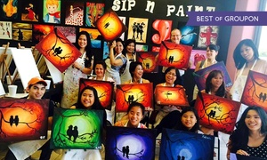 Valley Sip'n Paint: BYOB Painting Class for Two or Four at Valley Sip'n Paint (46% Off)
