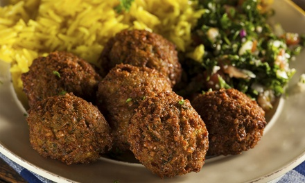 Dine-In or Take-Out Mediterranean Food at Cafe Mediterranean (Up to 50% Off). Three Options Available.