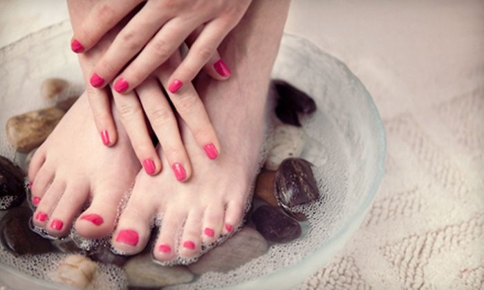 The Main Salon - Art District: $32 for a Spa Mani-Pedi at The Main Salon (Up to $70 Value)