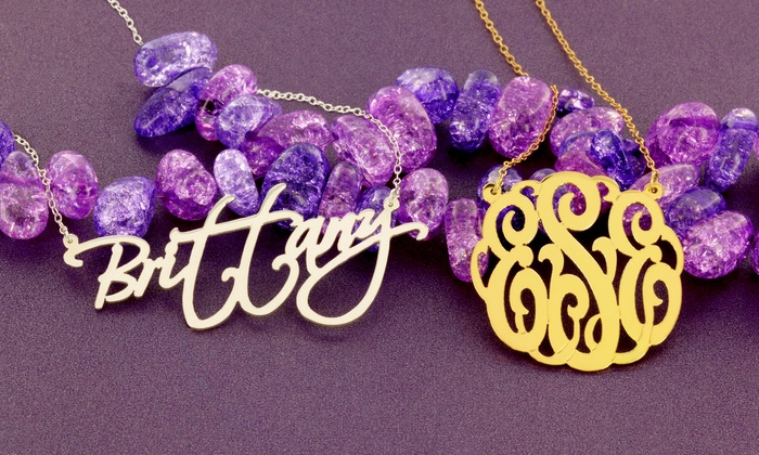 Monogram Online: Personalized Jewelry from Monogram Online. Multiple Options Available.
