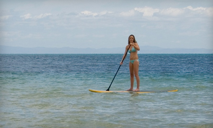 Saltwater Beach Services - Saltwater Beach Services: $17 for a One-Hour Paddleboard Rental from Saltwater Beach Services ($35 Value)