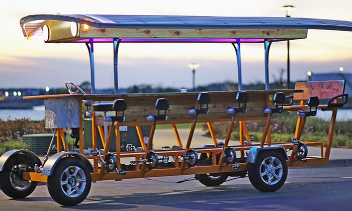 Pedal Trolley - Downtown: Pub Crawl or Historical Pedal Bike Tour for 6 or 15 from Pensacola Pedal Trolley (Up to 55% Off)