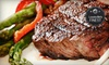 Cast Iron Steakhouse - Prospect: Steak, Seafood, and American Fare for Two or Four at Cast Iron Steak House (Half Off)