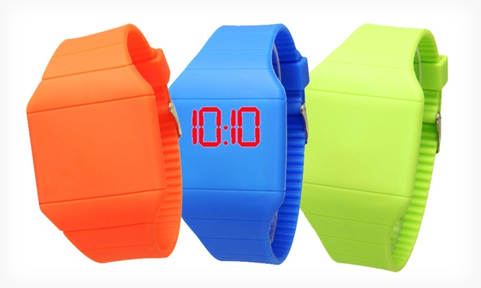 Geneva Ultraslim Digital Touchscreen LED Watch: $8.99 for a Geneva Ultraslim Digital Touchscreen LED Watch ($27.99 List Price). Multiple Colors Available. Free Returns.