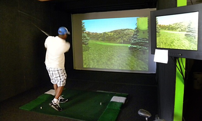 Swing Right Golf - Cherokee: One 9- or 18-Hole Round of Indoor Simulator Golf for Two at Swing Right Golf (50% Off)