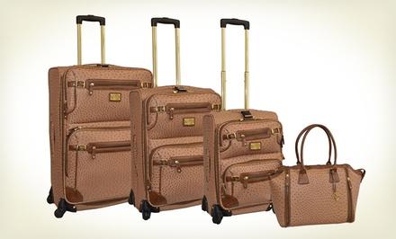 Adrienne Vittadini 4-Piece Luggage Set $249.99 (Save 81%)