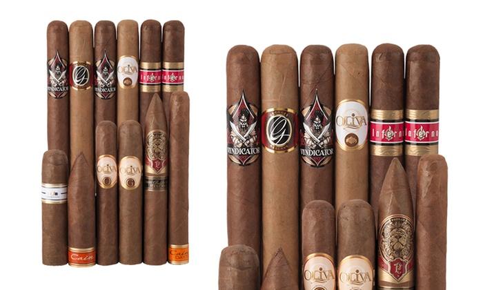 Oliva 12-Cigar Sampler: 12-Pack Oliva Cigar Sampler from Famous Smoke Shop. Free Shipping.