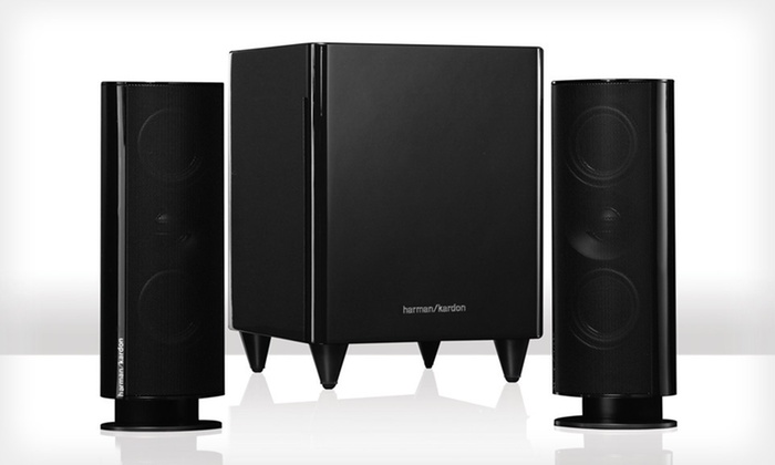 Harman Kardon Speaker System: $259 for a Harman Kardon 2.1-Channel Home Theater Sound System ($499.99 List Price). Free Shipping and Free Returns.