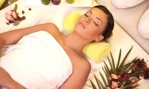 Urban Beach Tanning Hair & Beauty: Half-Body Wrap Treatment With Vibration Plate and Mini Facial for £24.95 at Urban Beach