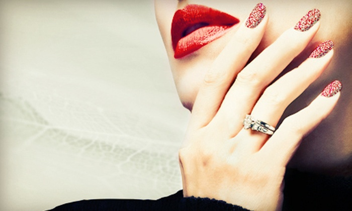CanaryCrystal Salon and Spa - New Albany: $25 for a Zillionaire Shellac Manicure at CanaryCrystal Salon and Spa ($50 Value)