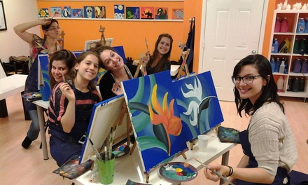 Byob painting class a painting fiesta groupon for Groupon painting class