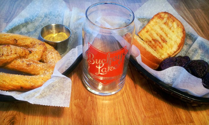 Buckeye Lake Brewery - Buckeye Lake: Brewery Visit with Paninis, Pretzels, and Take-Home Glasses for Two or Four at Buckeye Lake Brewery (Up to Half Off)