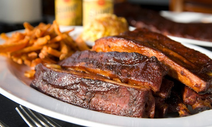 DJ's Barbecue - Marshall: Dine-In or Carryout Barbecue for Lunch or Dinner at DJ's Barbecue (Up to 47% Off)