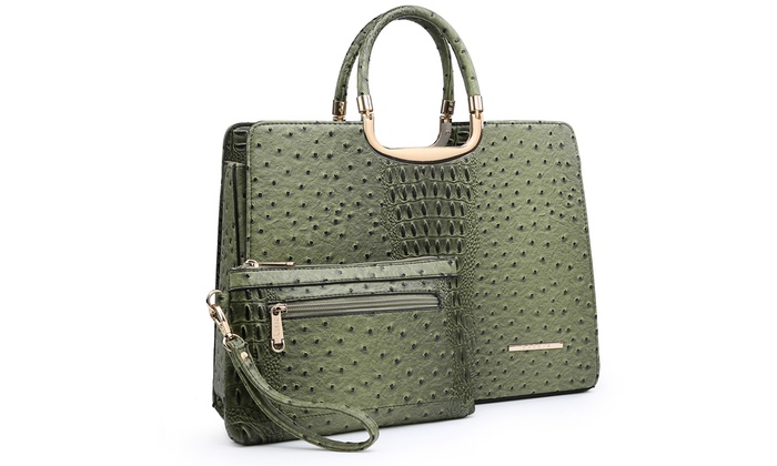 17195bf14fc4 Up To 75% Off on MKP Collection Faux Leather Tote | Groupon Goods