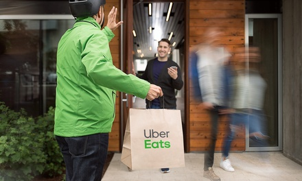 $10 for $25 Towards Food Delivery from Uber Eats for New Users
