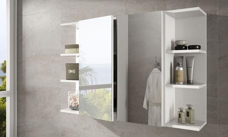 Módulo camerino con espejo o módulo rinconero para baño