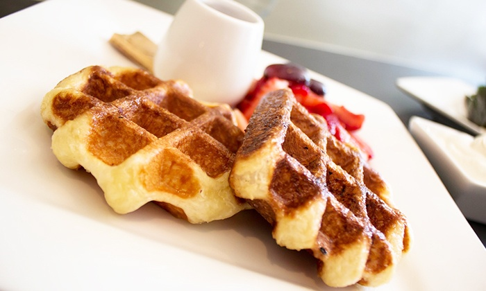 Yo-Lé Belgian Waffle Catering - Juno Beach: Catered Waffles for 20, 40, 60, or 80 for Office, Home or Special Events from Yo-Lé  (Up to 55% Off)