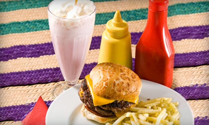 "Burger Fresh - Multiple Locations: $14 for Two ""Texas Monthly"" Award Burger Basket Meals at Burger Fresh (Up to $29.44 Value). Two Locations Available."