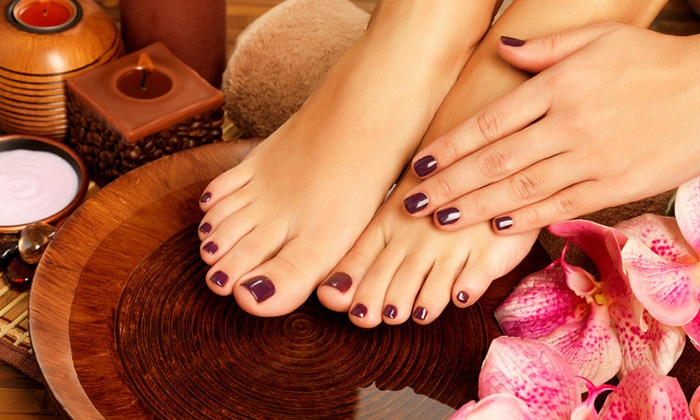 Tiffany Nail Spa-A - Holbrook: Deluxe or Gel Manicure and Hot-Stone Pedicure at Tiffany Nails Spa (48% Off)