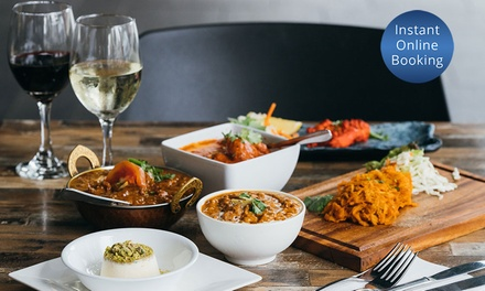 Indian Meal with Glass of Wine $59 or 4 $118 or Bottle of Wine $65 or 4 Ppl $130 at Not Just Curries