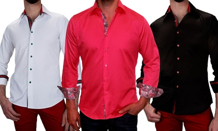 Suslo Couture Men's Slim Fit Shirts