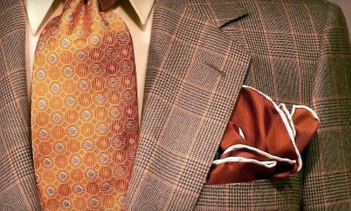Jakob Custom Clothiers - Downtown: $85 Toward Custom Clothing