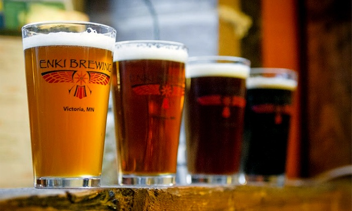 ENKI Brewing - ENKI Brewing: Beer Flights, Pints, and Souvenir Glasses for Two or Four at ENKI Brewing (Up to 40% Off)