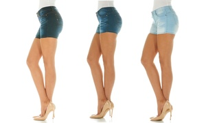 Cover Girl Jeans Women's Denim Mid Rise Shorts. Plus Sizes Available.