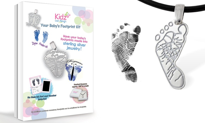 Kidz Can Design: Custom Baby Footprint Pendant Kit from KidzCanDesign.com
