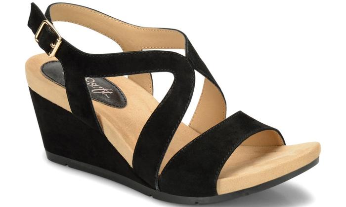 EuroSoft Vianca Women's Suede Wedge Sandals