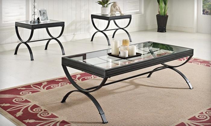 Three-Piece Coffee Table Set | Groupon Goods