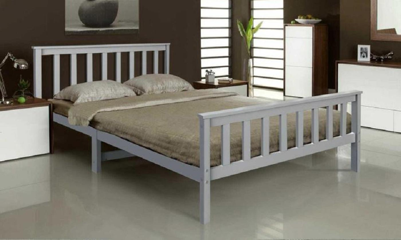 Solid Pine Wood Bed Frame with Optional Mattress