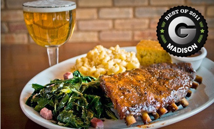$30 Groupon to Brickhouse BBQ - Brickhouse BBQ in Madison