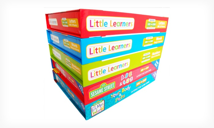 5-Pack of Interactive Kids' Flash Cards: $36.99 for a Little Learners and Sesame Street 5-Pack of Interactive Flash Cards ($99.75 List Price). Free Shipping.