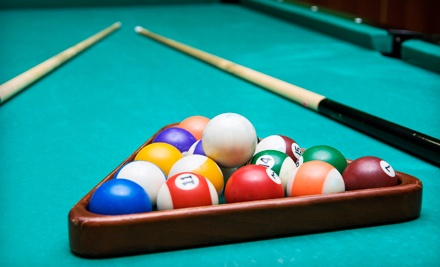 Billiards for Two with Pizza and Drinks, or Four-Hour Catered Party for Up to 40 at Belltown Billiards (Up to 66% Off)