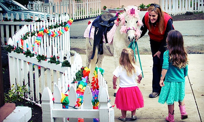 Friendly Pony Parties and Pastorino Farms - Half Moon Bay: Farm and Petting-Zoo Outing or One Week of Summer Camp at Pastorino Farms (Up to 55% Off). Six Options Available.