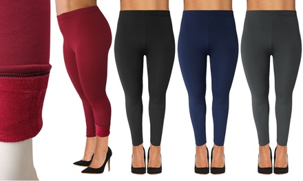PlusSized FleeceLined Leggings
